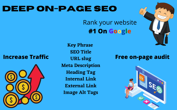 I will do deep on-page SEO for your website ranking