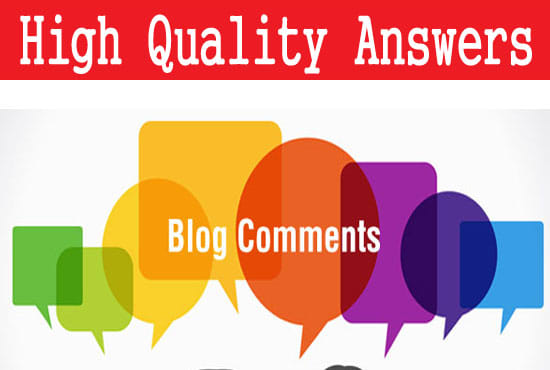 I will create 50 blog comments with high da pa