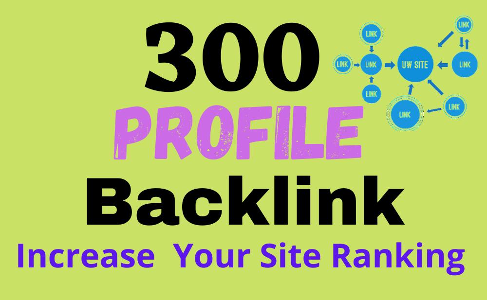 300 Unique Profile Creation Backlinks