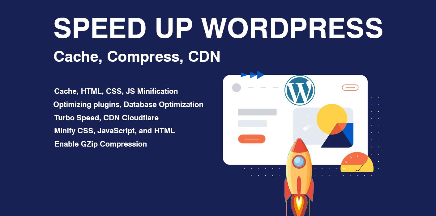 Do Speed Optimize,  Cache,  Compress,  CDN Professionally Wordpress