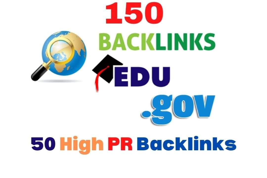 Manually 150 edu/gov And 50 High Pr9 Backlinks DA-70+ Google Rank