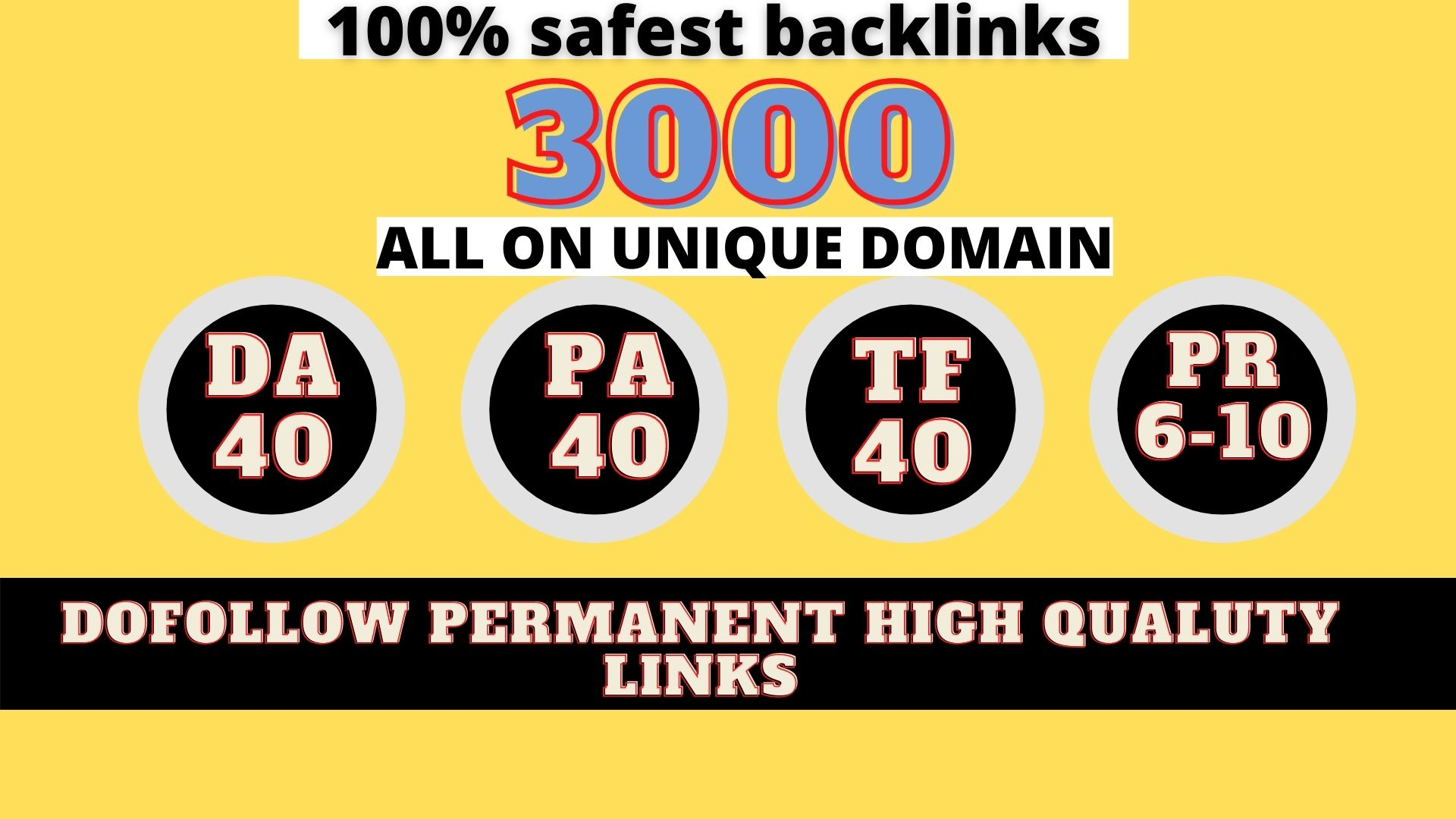 build 3000+ Permanent Web2.0 Backlink with High DA/PA/TF/CF On your homepage with unique website