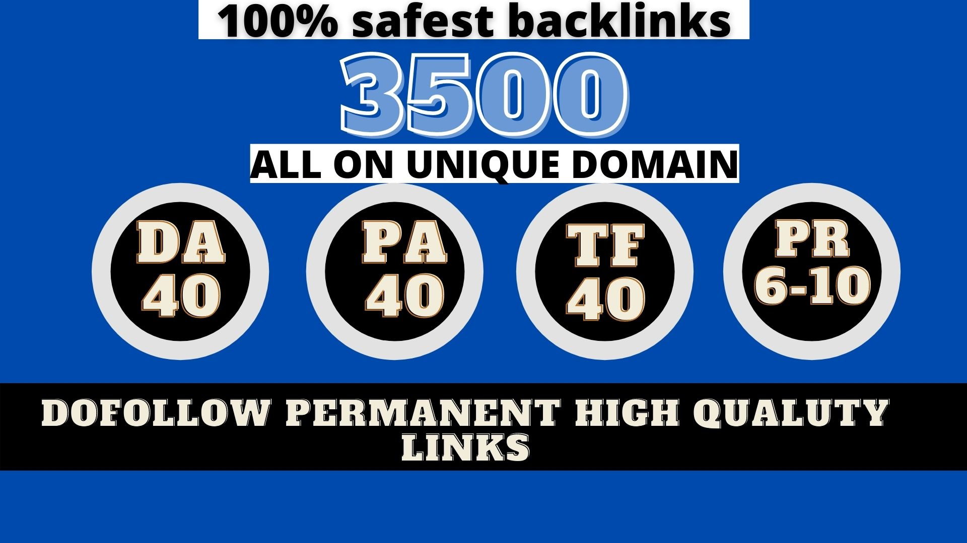build 3500+ Permanent Web2.0 Backlink with High DA/PA/TF/CF On your homepage with unique website
