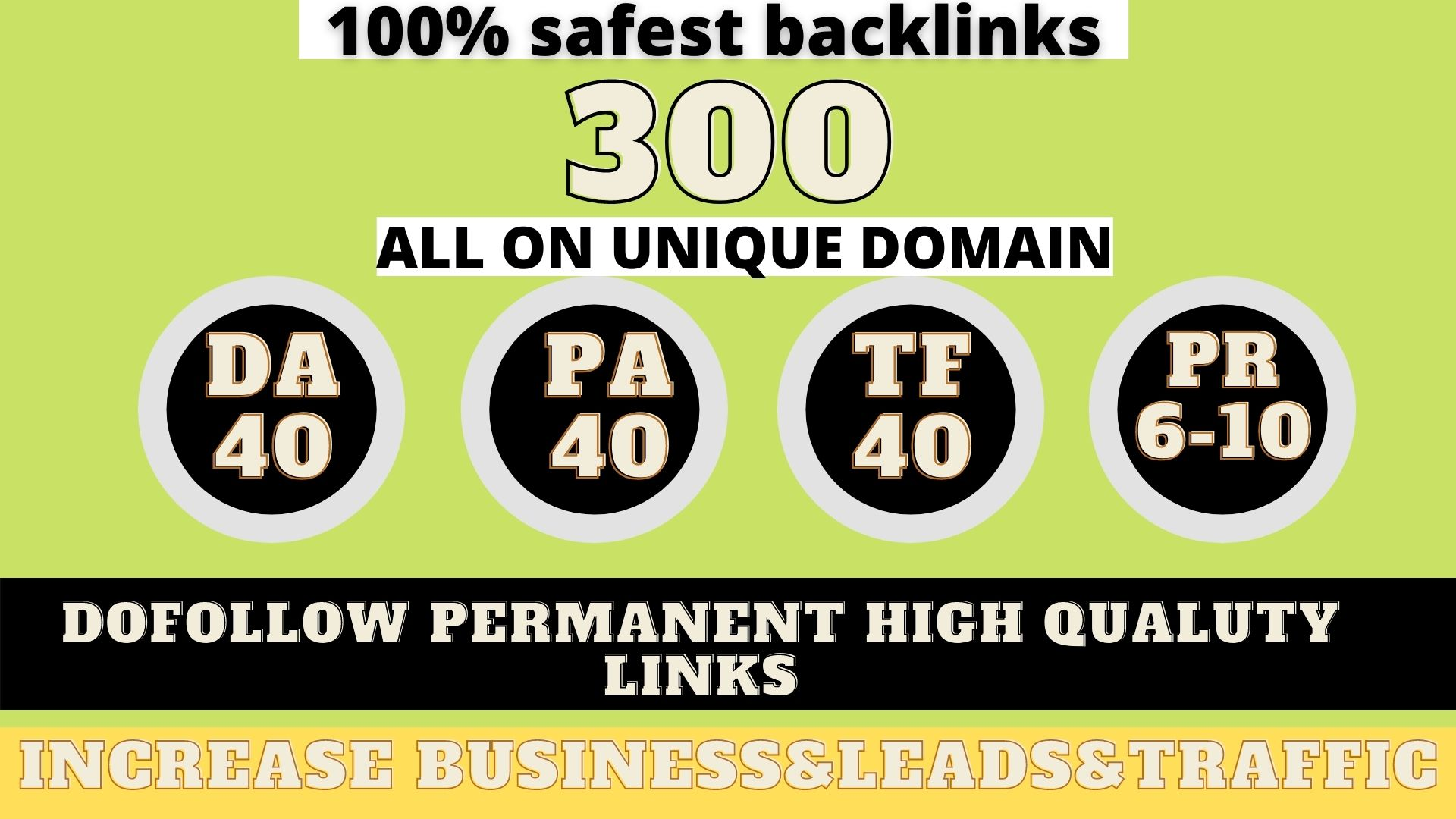 build 300+ Permanent Web2.0 Backlink with High DA/PA/TF/CF On your homepage with unique website