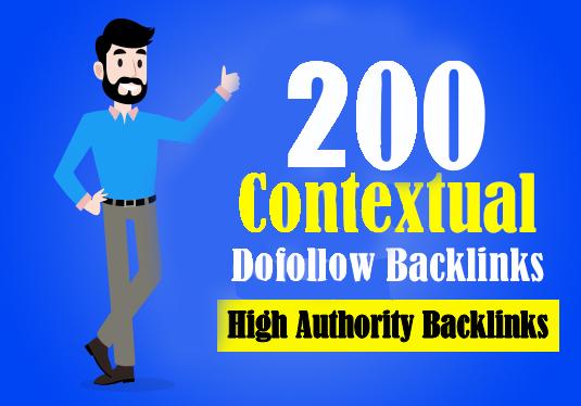 High DA Upto 200 high quality contextual SEO dofollow backlinks