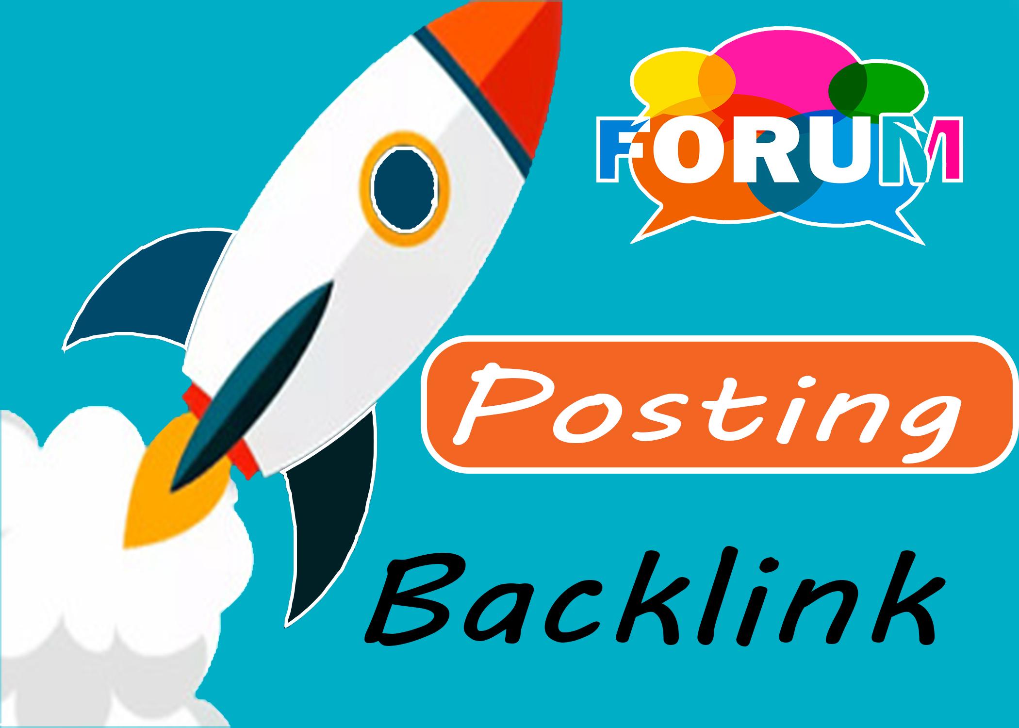 60 high quality Create Manually DofoIIow Forum Posting Backlink