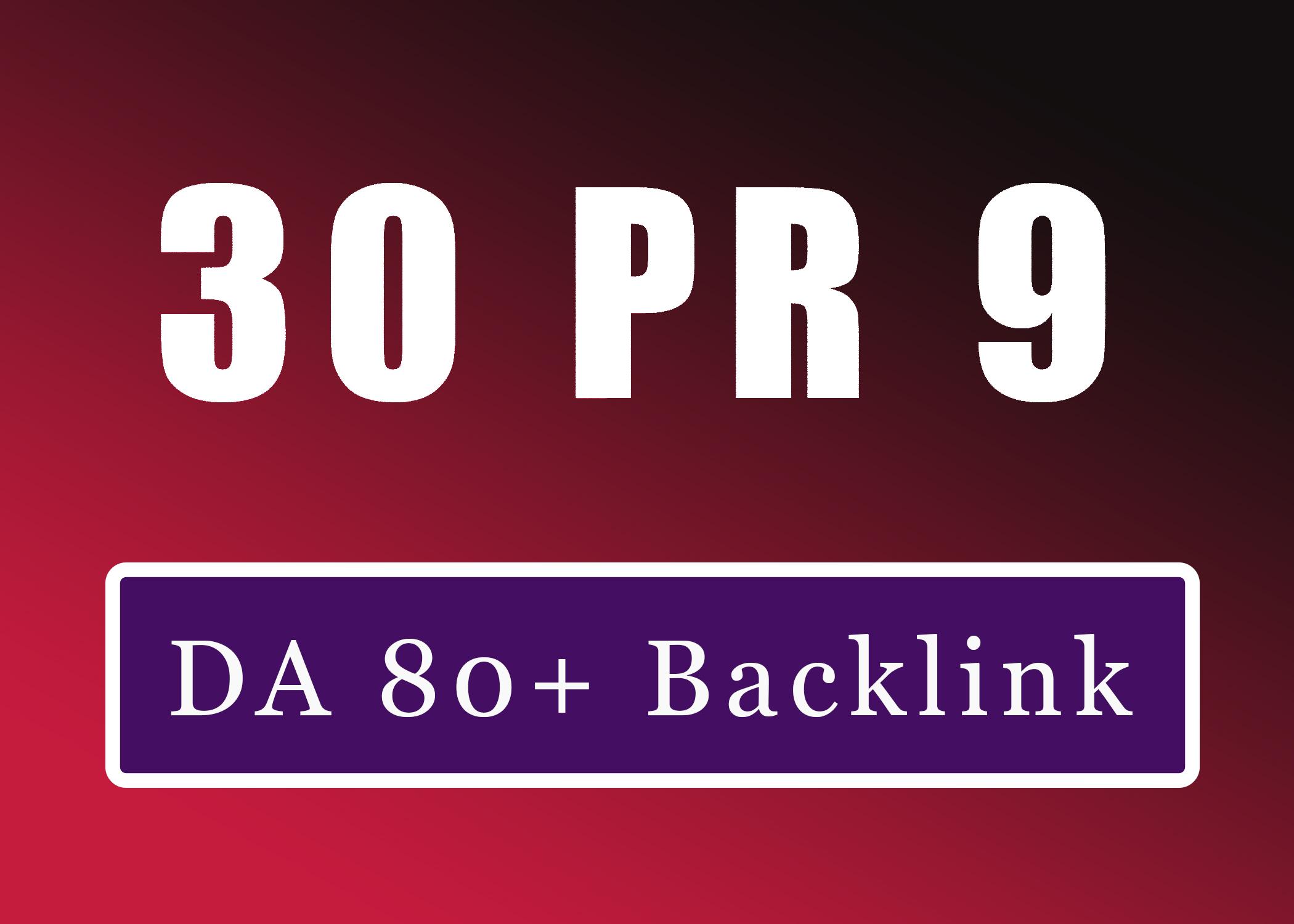 30+ Pr9 To Pr6 DA 80+ Manually Create Authority Profile Backlinks-Top service