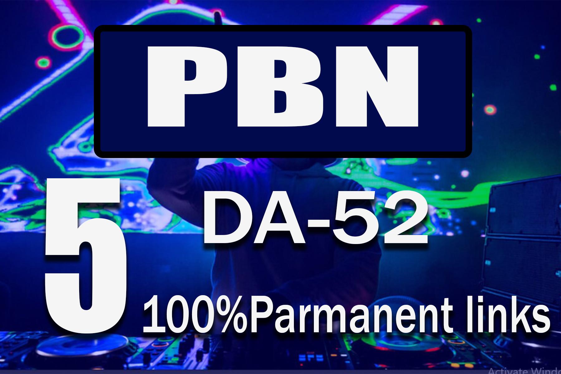 Homepage 5 DA52+ Dofollow PBN BACKLINKS