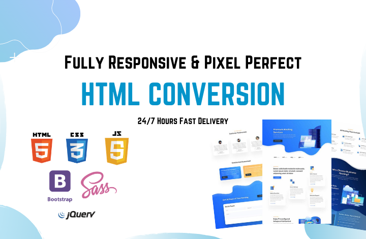I will convert website design,  psd to html,  xd to html responsive