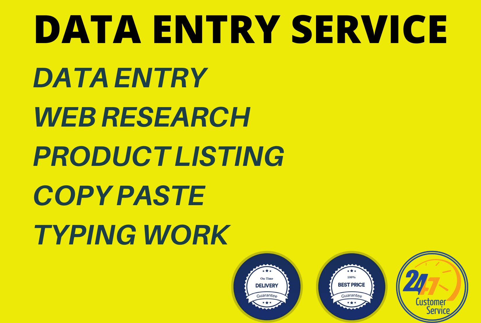 I will do data entry,  copy paste,  product listing,  and typing work