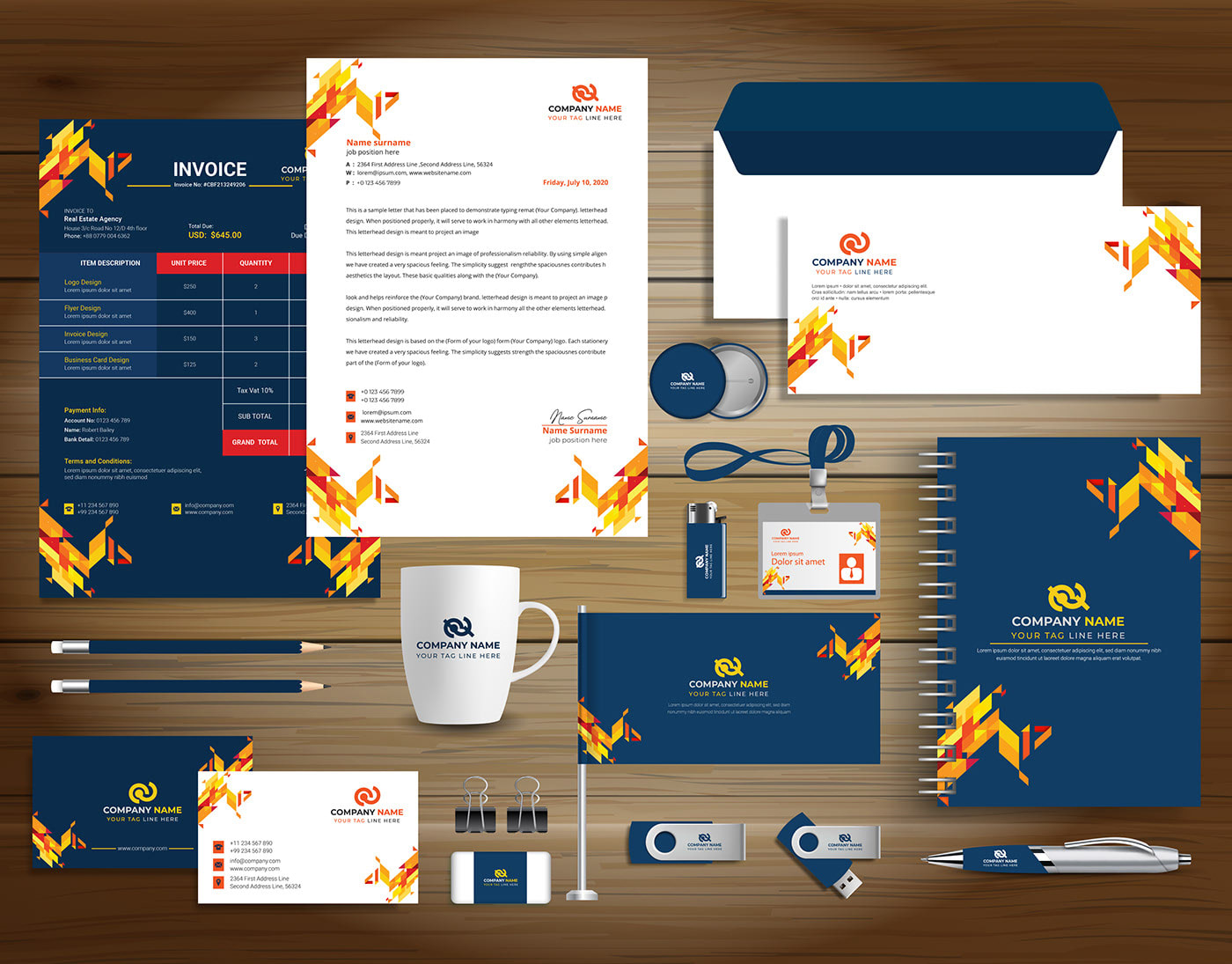 I will design business card,  letterhead,  and stationary branding unlimited revisions