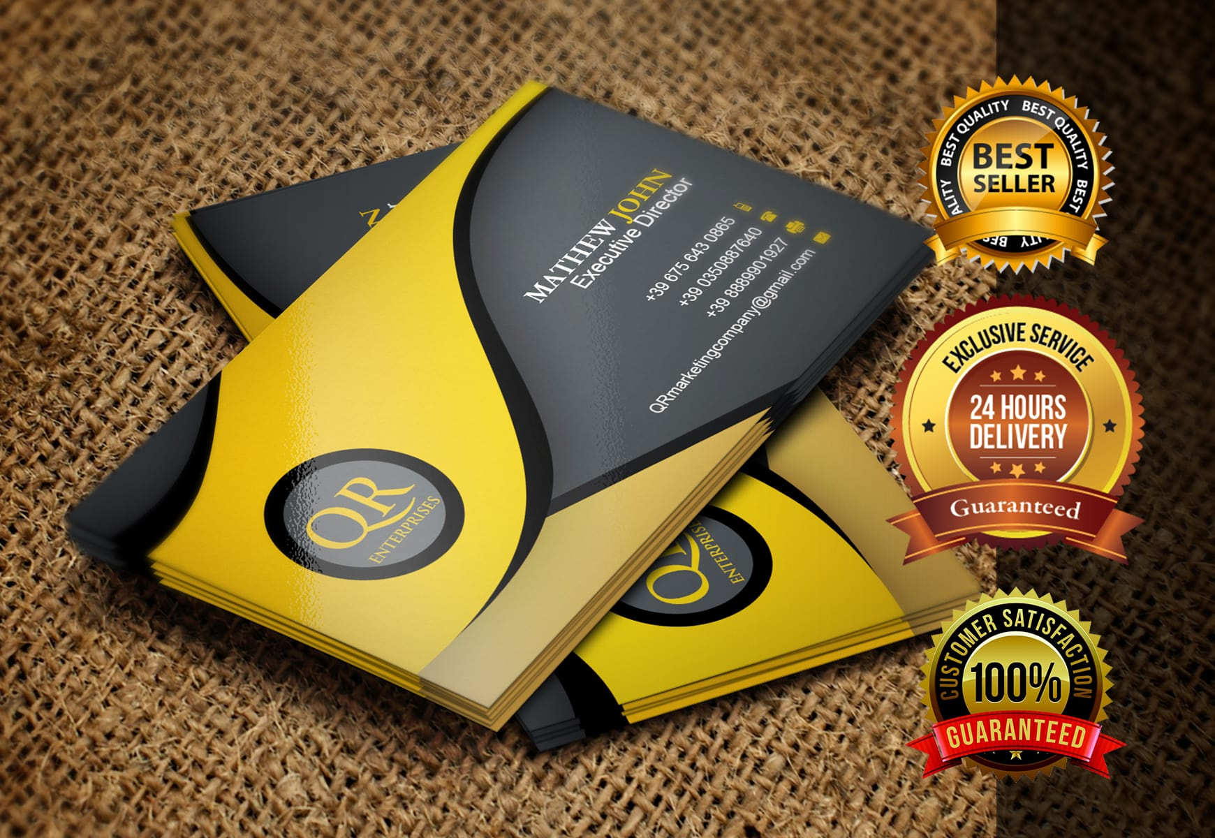 I will design business card with two concepts 24 hours delivery unlimited revisions