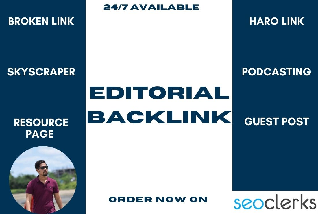 Build SEO editorial backlink for your website from high DA site