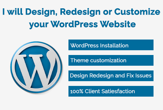 I Will Design,  Redesign or Customize Your WordPress Website