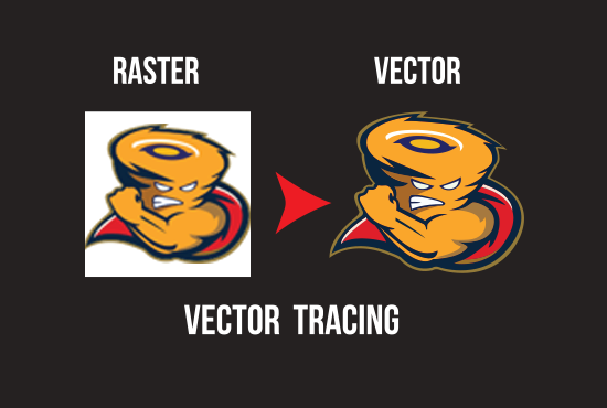 I will do vector tracing of any low quality logo professionally