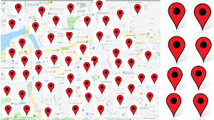 create manually 3000 google point map for local SEO