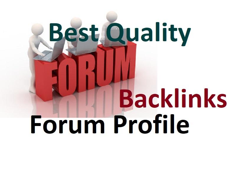 Create Top Quality 250 Forum Profile Creation link building backlinks
