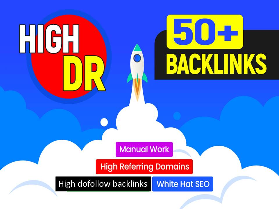 I will provide high quality 50 Dofollow high da pr link building backlinks