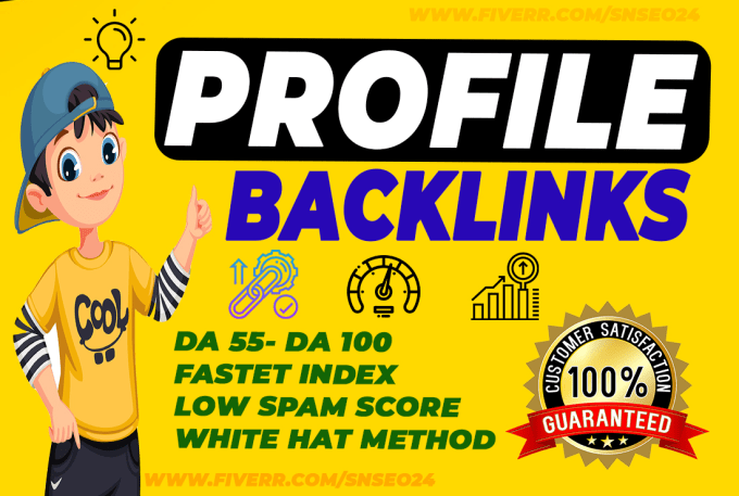 do 70 high authority SEO profile backlinks
