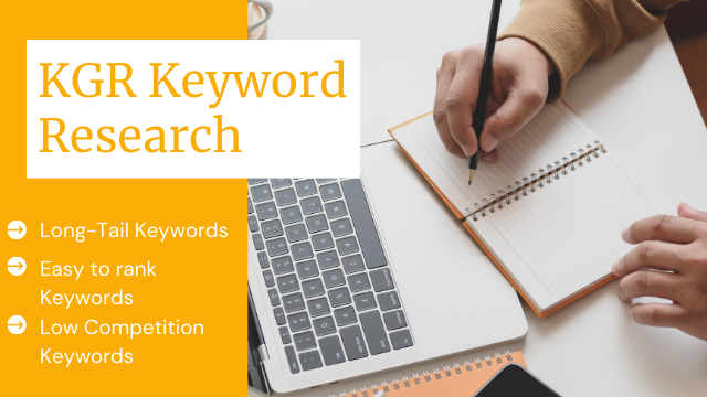 I will do kgr keyword research for niche site project