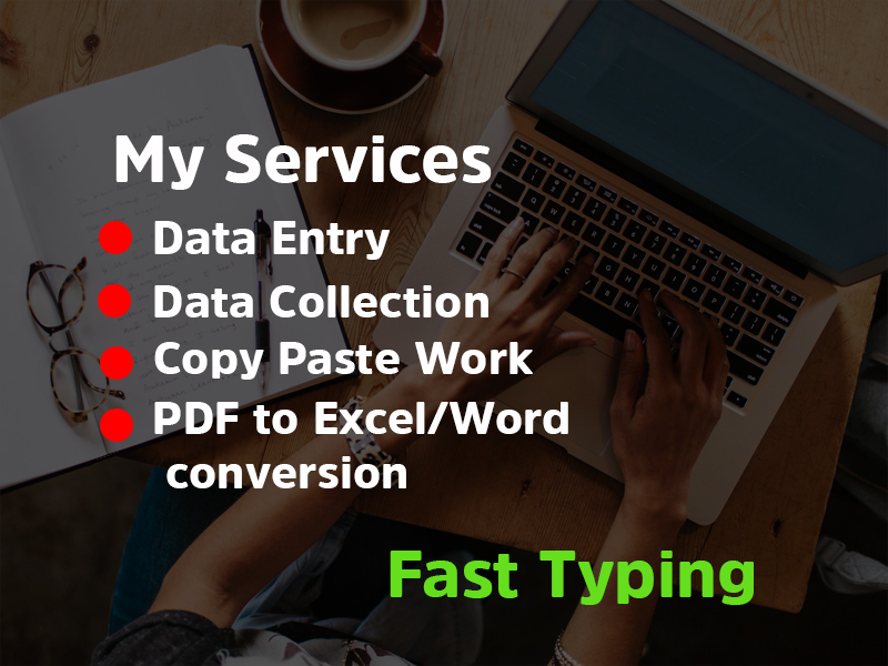I will do data entry,  copy paste work of your business