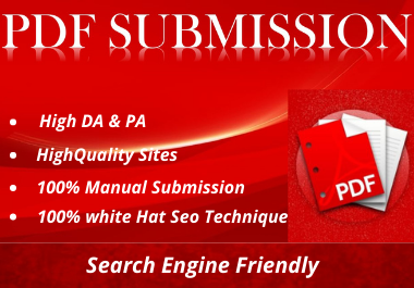Manually 20 Pdf Submission service for backlinks or traffic
