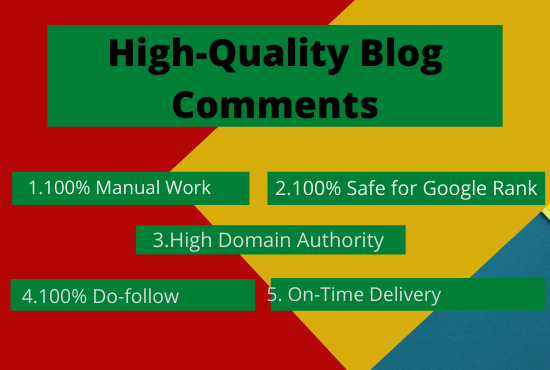 I will post 50 high quality manually blog comments on your blog