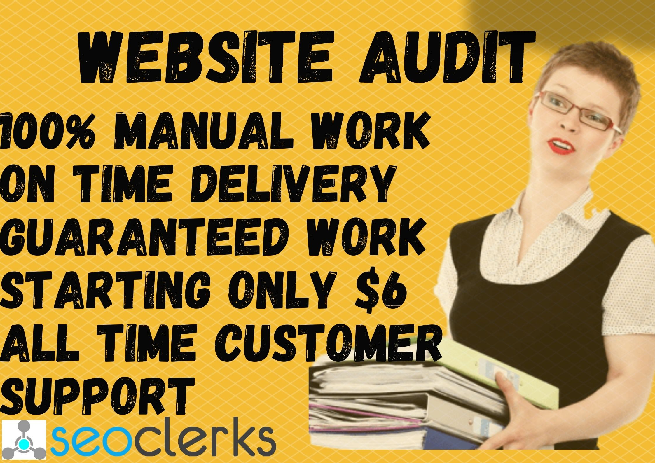 I will provide SEO Audit Report for Your any Website.