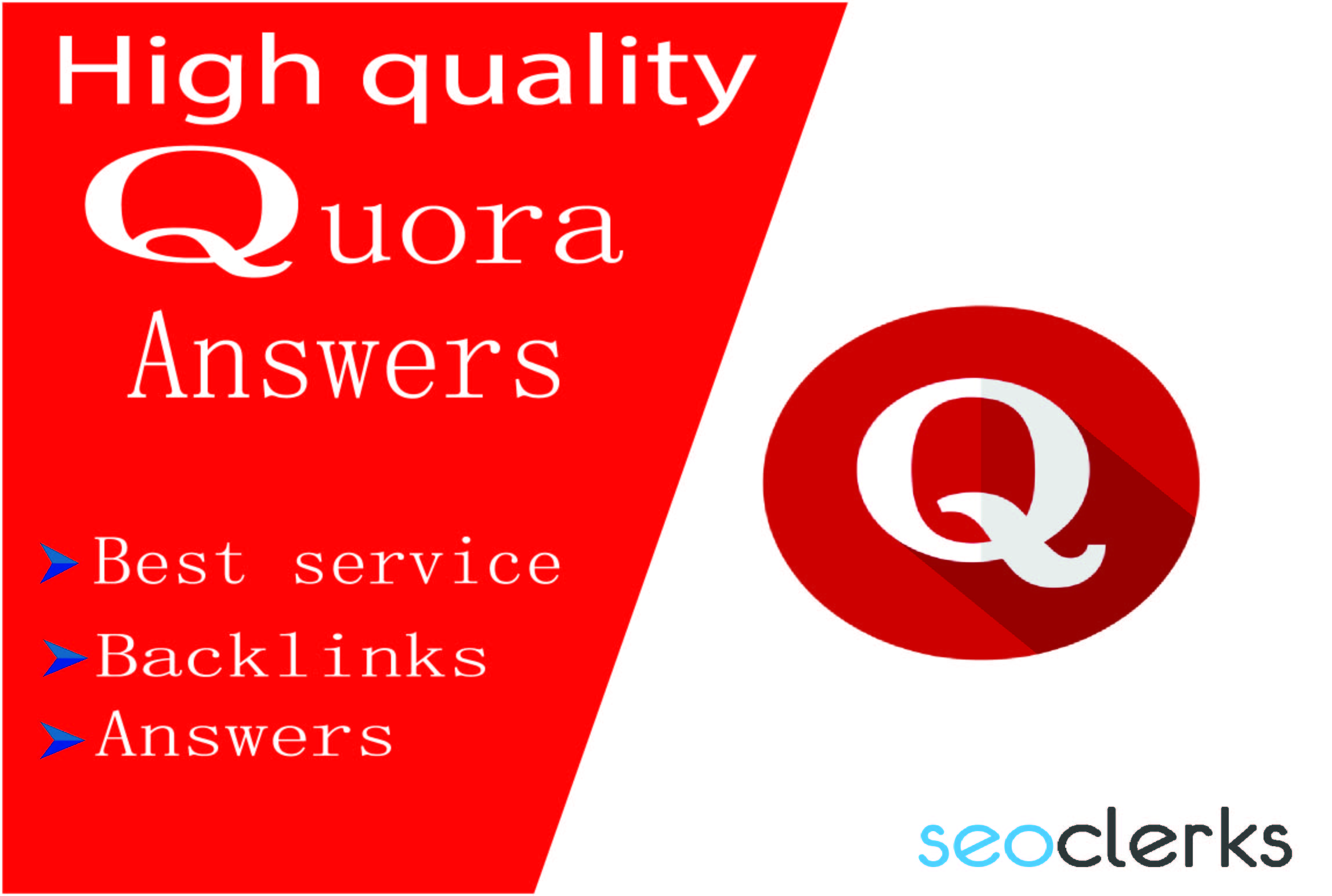 Promote your website by 30+ HQ Quora answers.