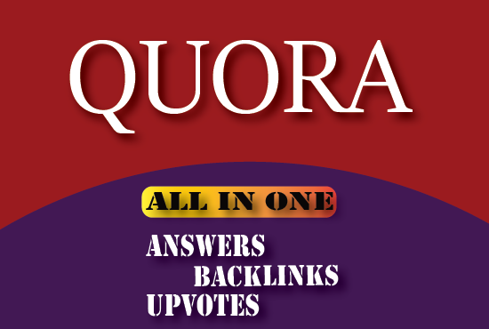 50 niche relevant exclusive Quora answers+backlinks+10 upvotes each
