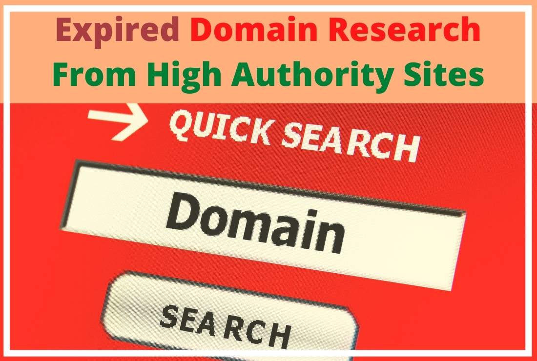 Expired domain research from high authority sites with HQ DA PA TF CF and Zero SS