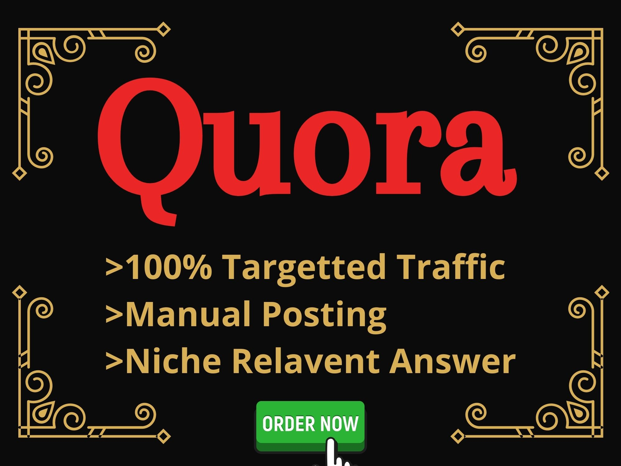 I'll provide you 10 HQ Quora answer posting with high authority back-link's