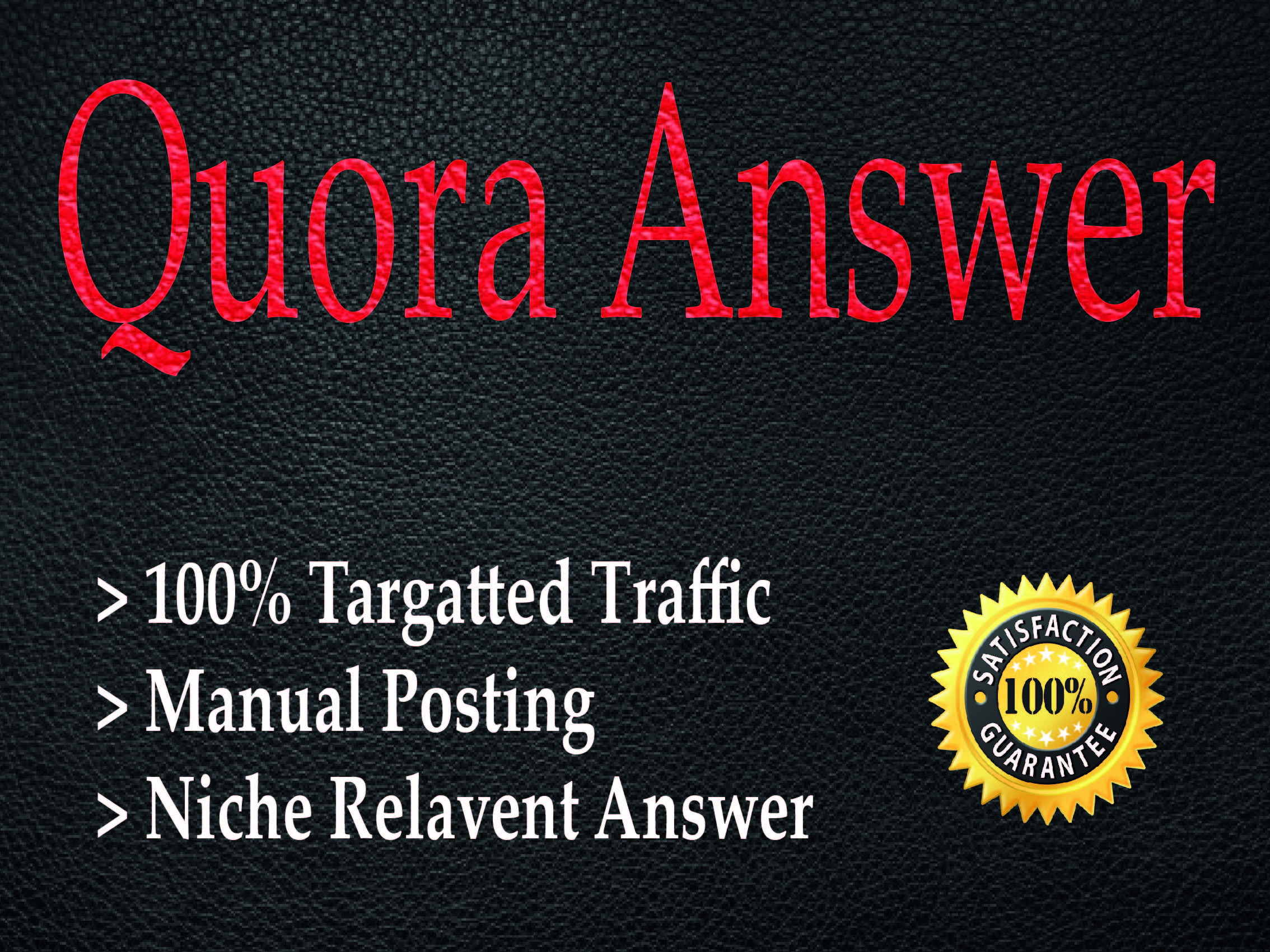 Promote Your Website with 40 HQ Quora Answer with backlinks
