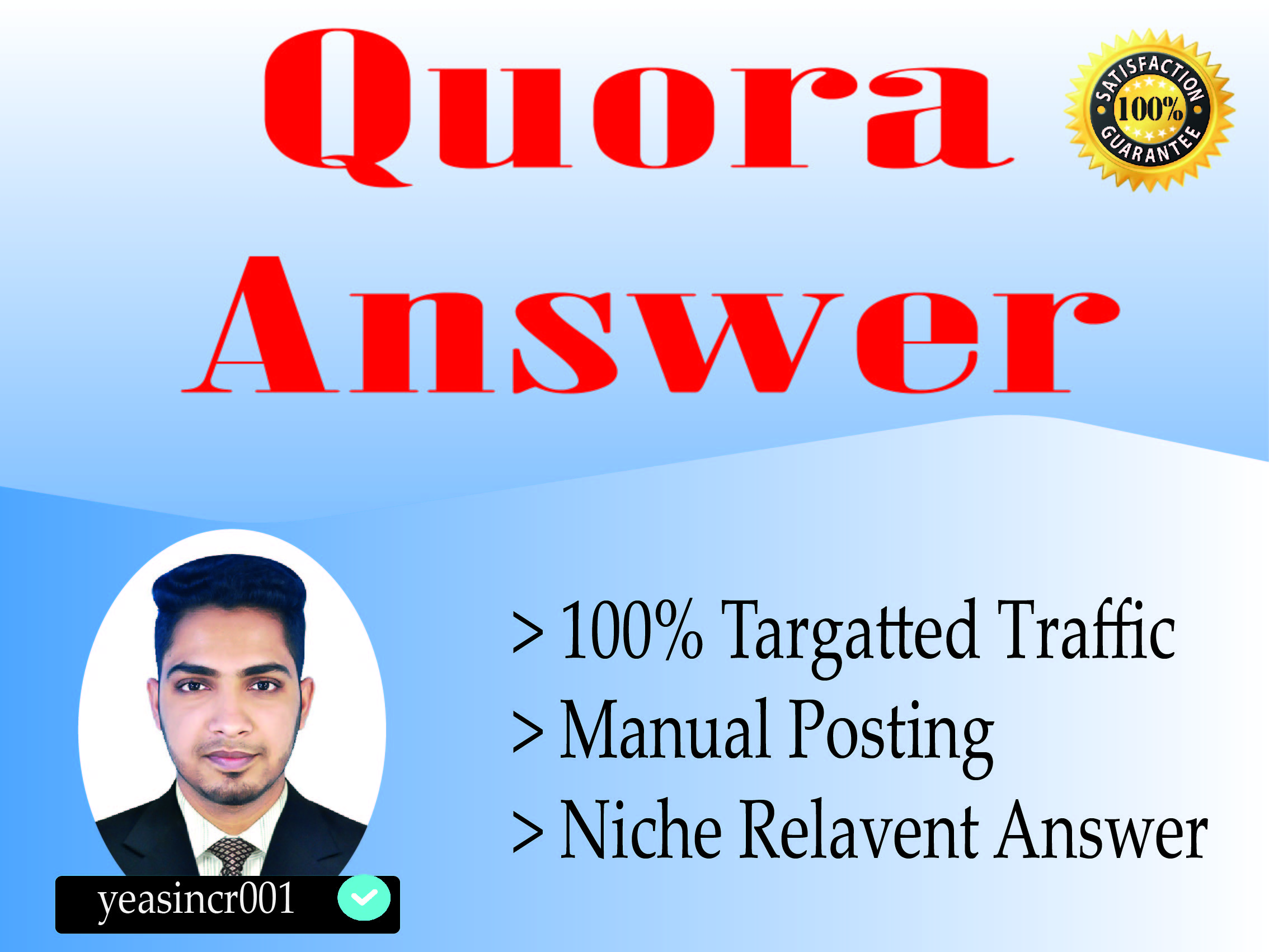 Promote Your Website with 15 HQ Quora Answer with backlink