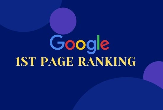 I will offer you google 1st page ranking with best linkbuilding services