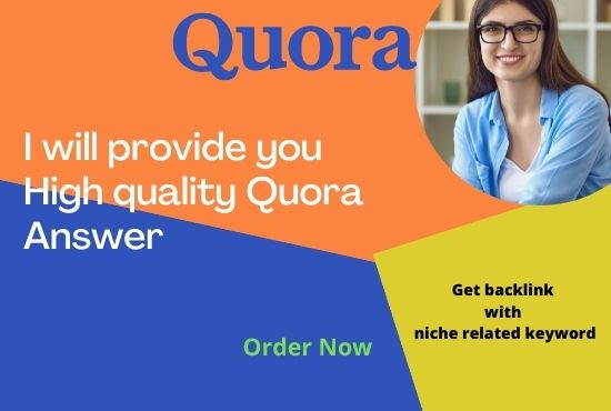 I will create 20 High Quality quora Answer with your keywords