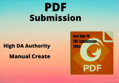 20 PDF Submission High Authority Manually Low spam score Permanent backlinks