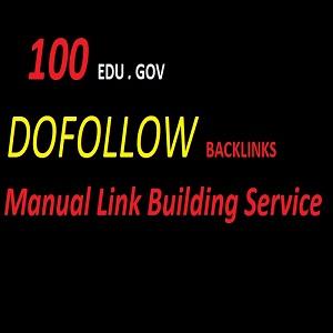 I will do manually build 100 Edu-Gov dofollow backlinks / ranking your website