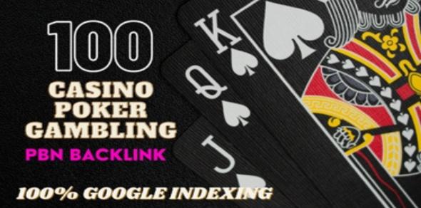 Get 100 HQ Dofollow DA 40+ Casino,  Judi,  Gambling High Quality PBN Backlinks
