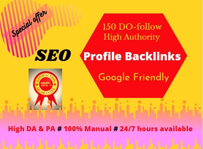 I will do high quality 150 profile backlinks manually