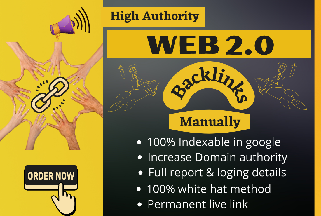 I will build high authority web 2 0 backlinks