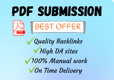 I will do PDF submission backlinks to 30 high PR slide sharing sites
