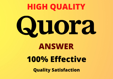 Guaranteed Promote your website 15 high quality Quora answer with Backlink