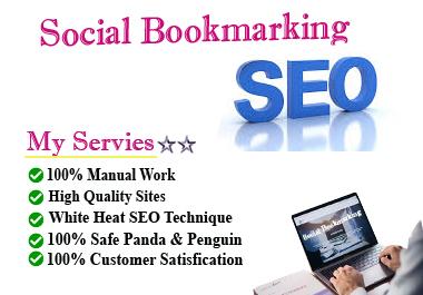 I will provide HQ Do-Follow Social Bookmarking Backlinks