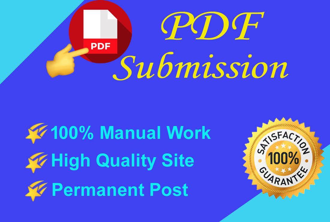 I will do pdf submission to the top 30 pdf sharing sites