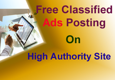 40 Classified ads on high authority posting sites