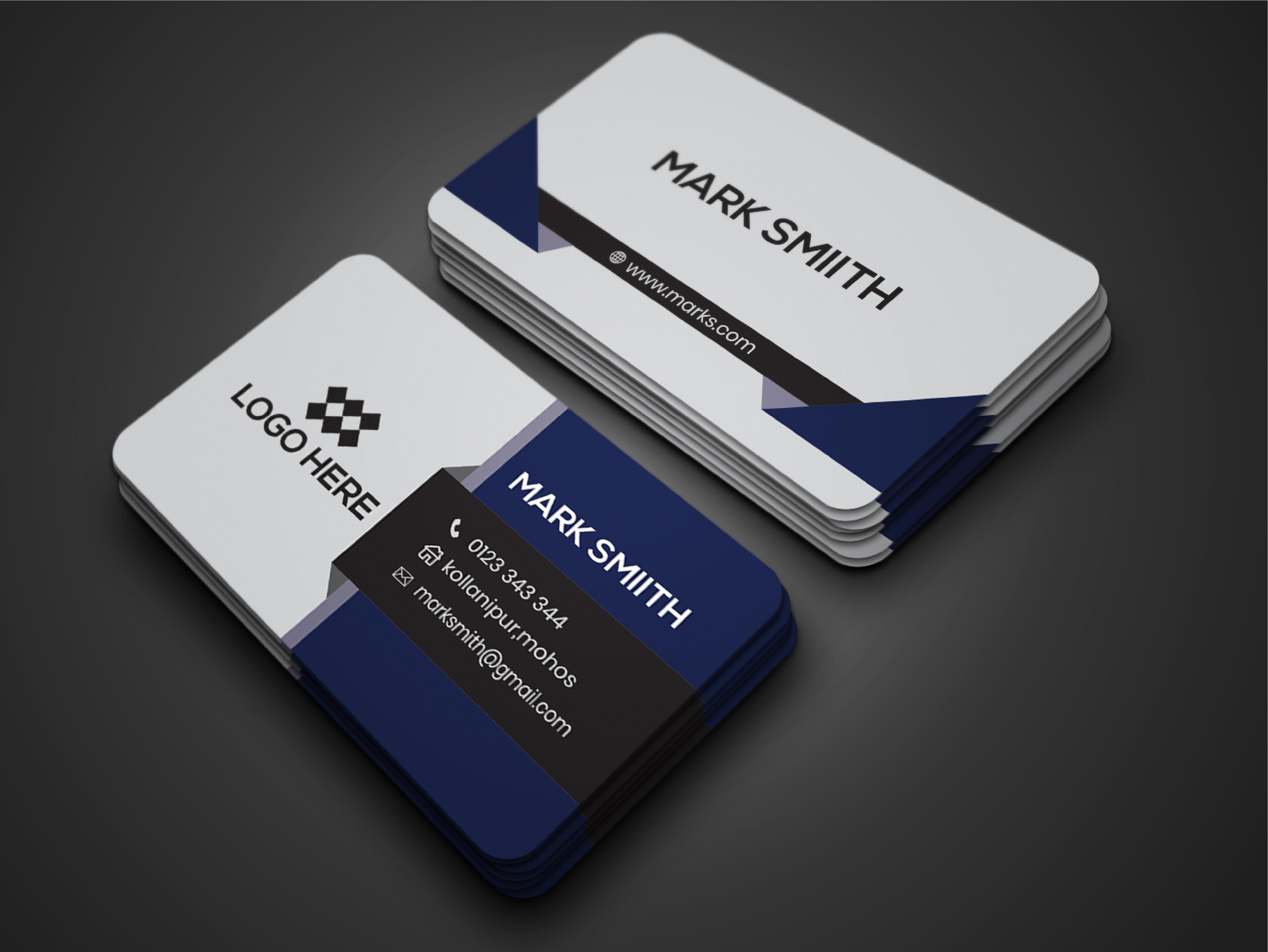 I will create a professional modern,  elegant,  unique,  business card.