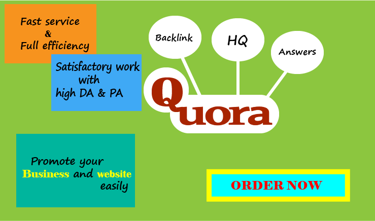 Get 30 Quora backlink and traffic +10 upvote