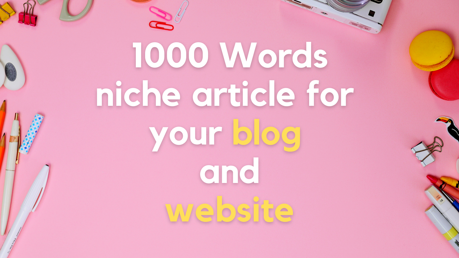 1000 words article and blog writing on any topic