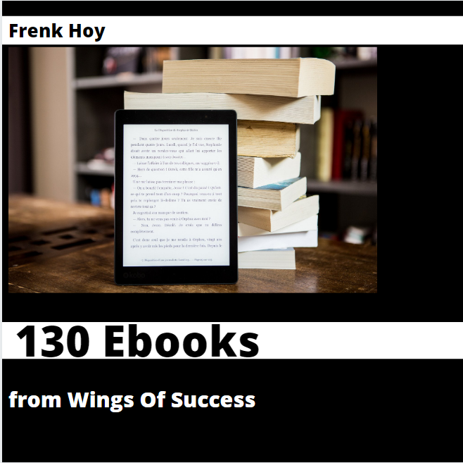 130 Ebooks from Wings Of Success with resell rights